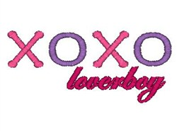 xoxo Loverboy embroidery design