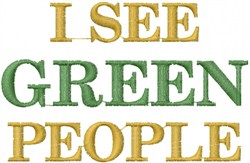Green People embroidery design