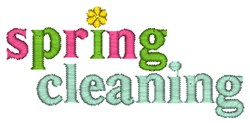 Spring Cleaning embroidery design