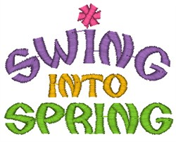 Swing Into Spring embroidery design