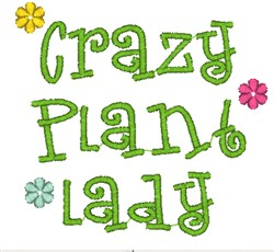 Craz Plant Lady embroidery design