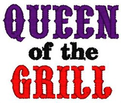 Queen Of Grill embroidery design