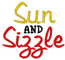 Sun And Sizzle embroidery design