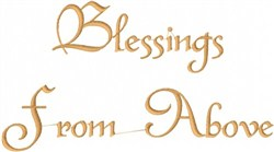 Blessings From Above embroidery design