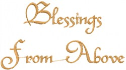 Blessings embroidery design
