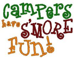 Smore Fun embroidery design
