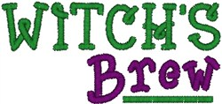 Witchs Brew embroidery design