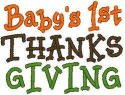 1st Thanksgiving embroidery design