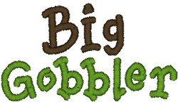 Big Gobbler embroidery design