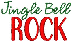 Jingle Bell Rock embroidery design
