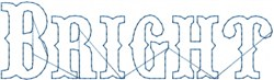 Bright Outline embroidery design
