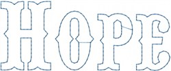 Hope Outline embroidery design