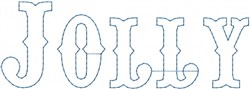 Jolly Outline embroidery design
