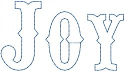 Joy Outline embroidery design