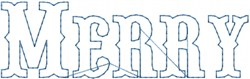 Merry Outline embroidery design