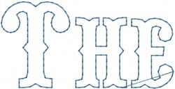 The Outline embroidery design
