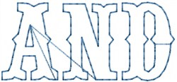 And Outline embroidery design