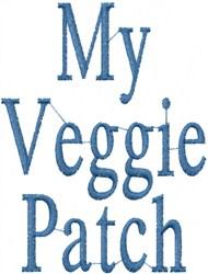 Veggie Patch embroidery design