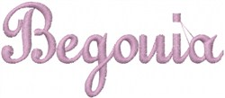 Begonia embroidery design