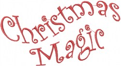 Wavy Christmas Magic embroidery design