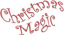 Wavy Christmas Magic embroidery design