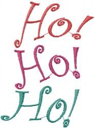 Wavy HO HO HO embroidery design