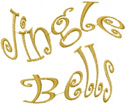 Wavy Jingle Bells embroidery design