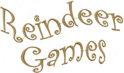 Wavy Reindeer Games embroidery design