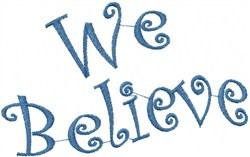 Wavy We Believe embroidery design