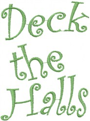 Wavy Deck The Halls embroidery design