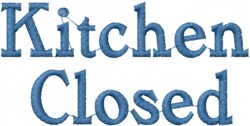 Kitchen Closed embroidery design