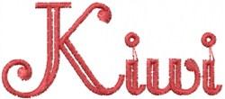 Kiwi embroidery design