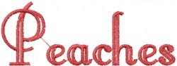 Peaches embroidery design