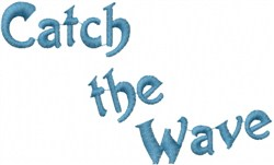 Catch The Wave embroidery design