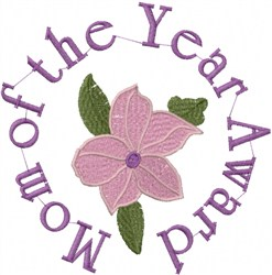 Mom Award embroidery design