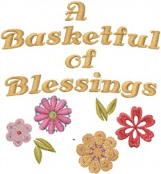 Basketful Of Blessings embroidery design