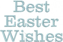 Easter Wishes embroidery design