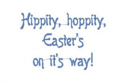 Easter On its Way embroidery design