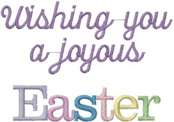 Joyous Easter embroidery design