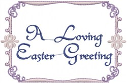 Easter Greeting embroidery design