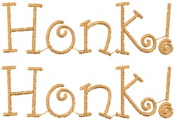 Honk embroidery design