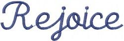 Rejoice embroidery design