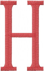 Wish - H embroidery design
