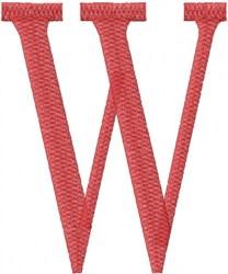 Wish - W embroidery design