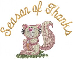 Season Of Thanks embroidery design