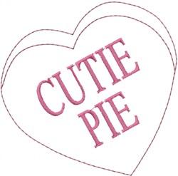 Cutie Pie Heart embroidery design