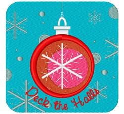 Pretty Christmas Ornament embroidery design