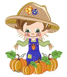 Adorable Fall Scarecrow embroidery design