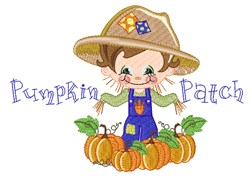 Cute Fall Scarecrow embroidery design