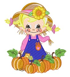 Sweet Fall Scarecrow embroidery design